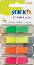 Pop-up indeksfaner - 45x12mm Neon pop-up flags