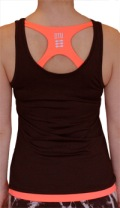 Running top - ladies, black with logo