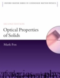 miniaturebillede af omslaget til Optical Properties of Solids