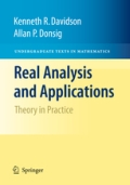 Real Analysis and Applications - Theory in Practice, 1. udgave