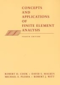 miniaturebillede af omslaget til Concepts and Applications of Finite Element Analysis