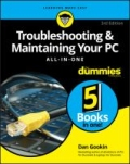 miniaturebillede af omslaget til Troubleshooting and Maintaining Your PC All-In-One for Dummies, 3. udgave