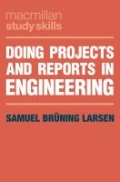 miniaturebillede af omslaget til Doing Projects and Reports in Engineering, 1. udgave