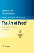 miniaturebillede af omslaget til The Art of Proof - Basic Training for Deeper Mathematics, 1. udgave