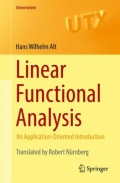 miniaturebillede af omslaget til Linear Functional Analysis - An Application-Oriented Introduction, 1. udgave
