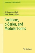 miniaturebillede af omslaget til Partitions, Q-Series, and Modular Forms, 1. udgave