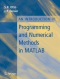 miniaturebillede af omslaget til An Introduction to Programming and Numerical Methods in MATLAB, 1. udgave