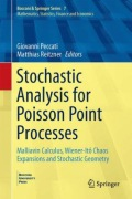 miniaturebillede af omslaget til Stochastic Analysis for Poisson Point Processes: Malliavin Calculus, Wiener-Itô Chaos Expansions and Stochastic Geometry, 1. udgave