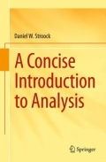 miniaturebillede af omslaget til A Concise Introduction to Analysis, 1. udgave