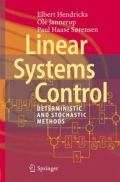 miniaturebillede af omslaget til Linear Systems Control - Deterministic and Stochastic Methods