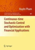 miniaturebillede af omslaget til Continuous-Time Stochastic Control and Optimization with Financial Applications, 1. udgave